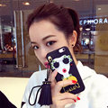 Korean Modern Girl Phone Cases Coque for iPhone 7 7plus 6 6/6s Plus Diamond Decoration Big Rivets Tassel Drop Silicone Fundas