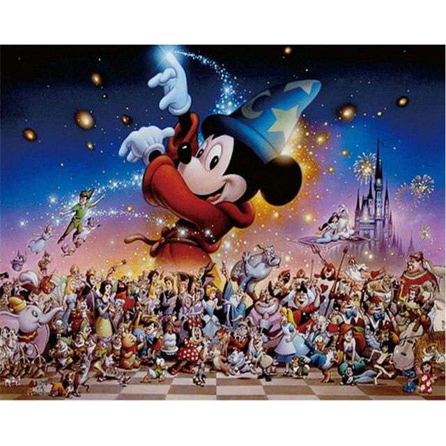 c3c7e50ad3 Diy 5D Diamond painting cross stitch Disney crystal diamond mosaic cartoon  Mickey mouse pattern full diamond