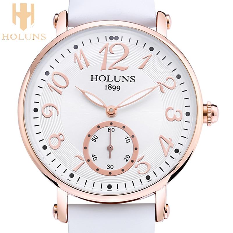 2016 Fashion trend holuns big dial Waterproof quartz Casual women font b watch b font Sapphire