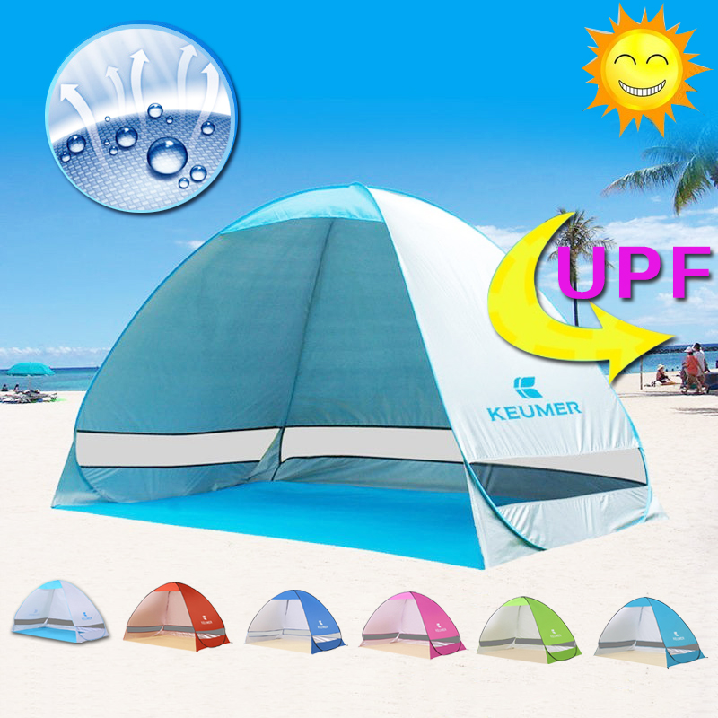 Folding Beach Tent Automatic Pop Up Tents Sun Shelter Anti uv Sun Shade Awning 2 3