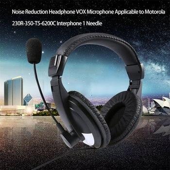 Modo de Redução de Ruído Fone de Ouvido com Fio fones de ouvido para Motorola 230R/350/T5/6200C Walkie Talkie 1 Pin