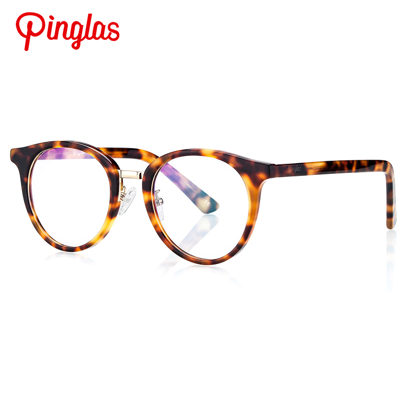 Pinglas Women Sunglasses Non-polarized Clear Lens Round Replaceable Retro Glasses Fashion Eyewear Nerdy Sun galsses Oculos de