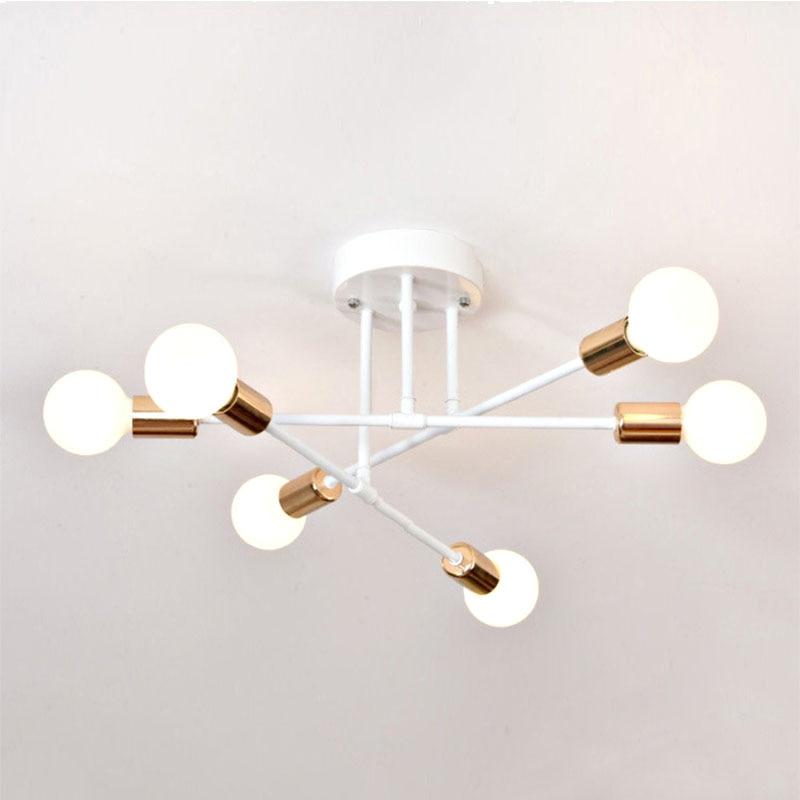 HTB1e7QZc8Kw3KVjSZTEq6AuRpXaI 6/8 Head LED Industrial Iron Ceiling Lamp Black/Golden European Minimalist Living Room Lighting 220V E27 Anti-Rust & Durable