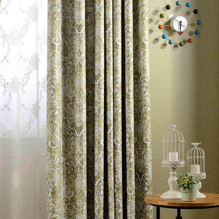factory direct new european american country style printing blackout curtain fabric living room window luxury fashion