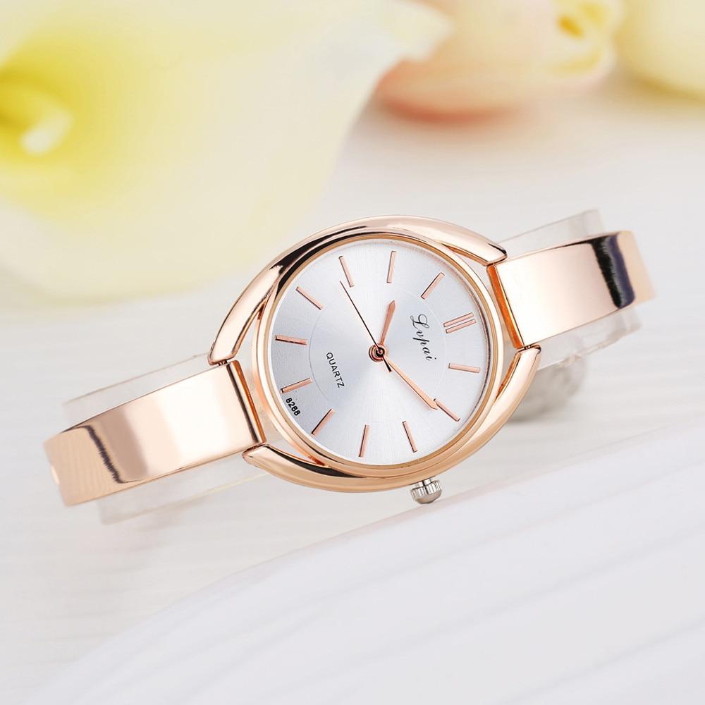 LVPAI Fashion Watches Women Quartz Wristwatch Clock Ladies Dress Gift Watches Ladies Stainless Steel Bracelet Watch Horloges B40