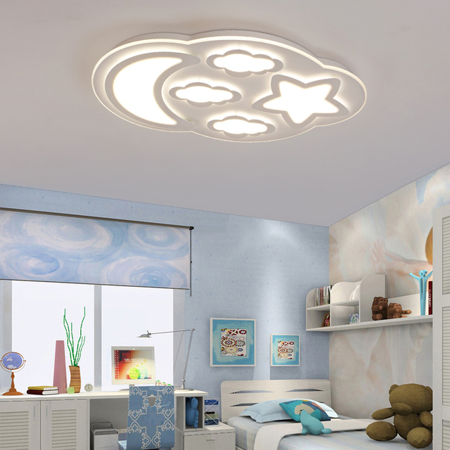 Modern children bedroom led ceiling light clouds boy girl bedroom modern children bedroom led ceiling light clouds boy girl bedroom warm stars moon ceiling light aloadofball Image collections