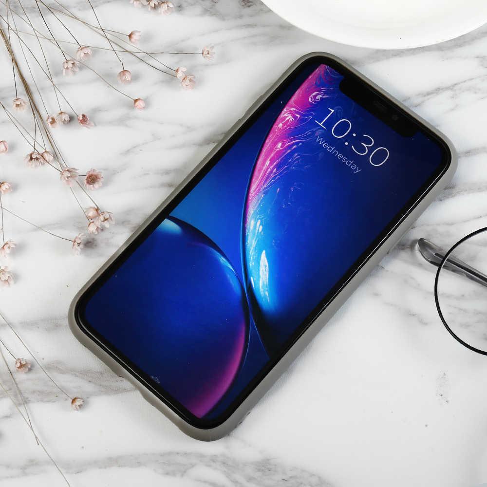 Zachte Siliconen Grijs Effen Kleur Telefoon Case Voor Iphone X Xr Xs Max 5 5S Se 6 6S 7 8 Plus 11 Pro Max 2019 6.5In Cover Coque Fundas