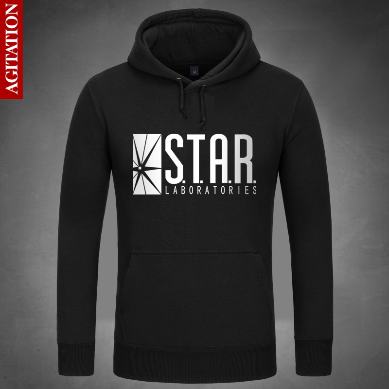 STAR Laboratories Hoodies Hoody Pullover Sweatshirt  Sweatshirts Loose Outerwear The Flash Arrow S.T.A.R. Labs Clothes Coat