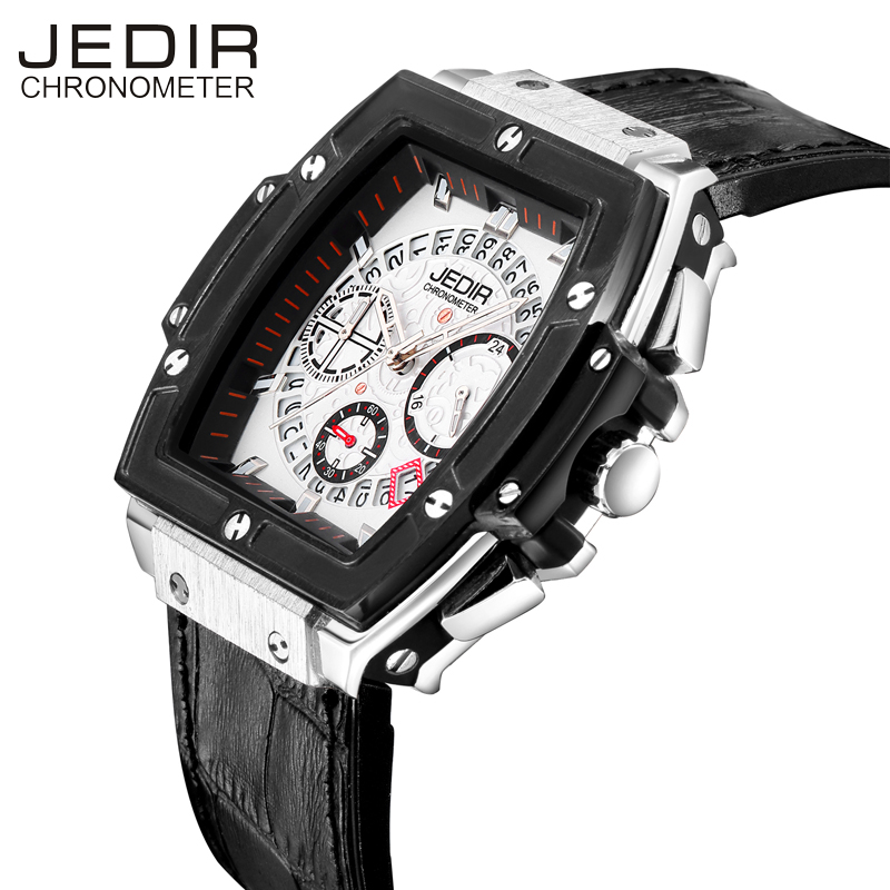 JEDIR Sport Mens Watches Top Brand Luxury Watch Men Waterproof Quartz Wristwatches Complete Calendar Male Clcok New Reloj Hombre cadisen top new mens watches top brand luxury complete calendar 3atm sport watches for men clock stainless steel horloges mannen