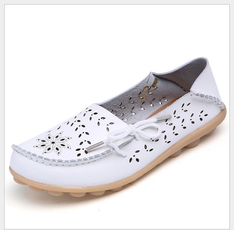 Plus Size 34 44 shoes women Breathable slip on font b flats b font font b