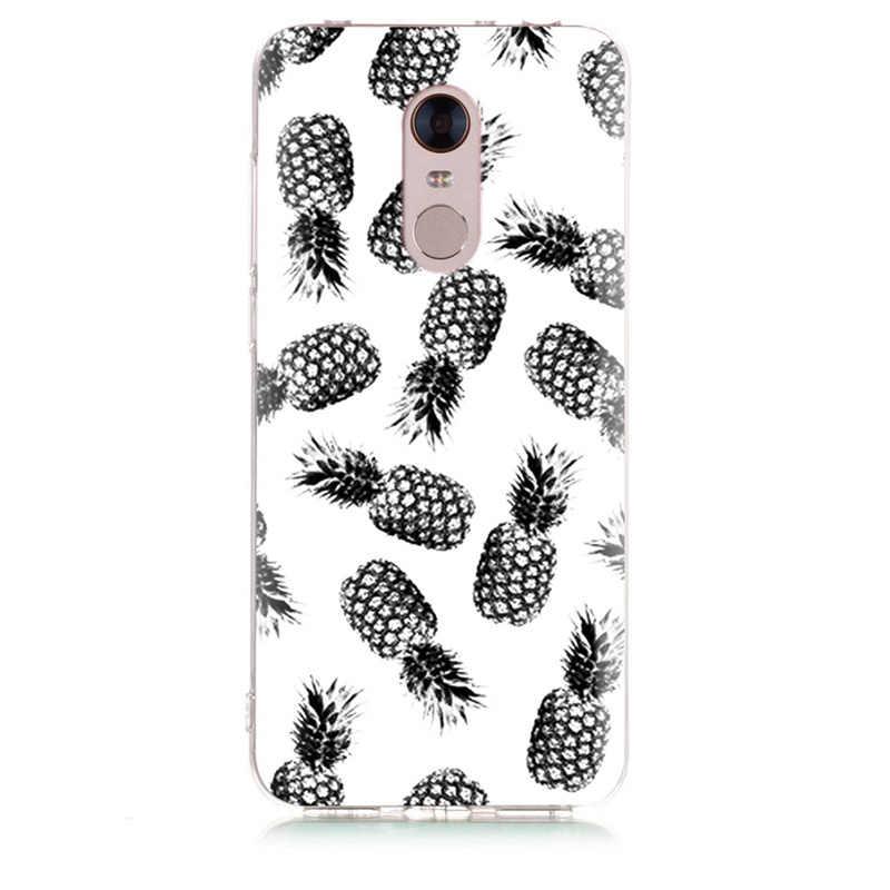 MLCRIYG de teléfono suave para Xiaomi Redmi 4X nota 3 mi A1 Nota 4 Pro 4A Nota 5 6 6pro TPU flores de colores flora cerdo caso pintado de D008