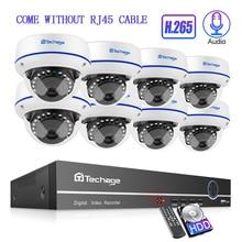 Techage 8CH H.265 1080 P POE NVR безопасности Камера Системы 4/6/8 шт. 2MP купольная ip-камера с модулем питания POE Комплект Системы охранного видеонаблюдения без RJ45 кабель