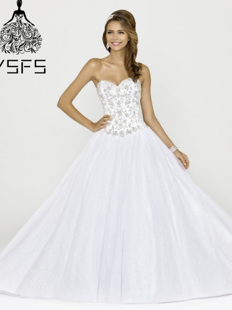 c7f71624592ab Elegant Modern Sweetheart Tulle Lace up White Purple Plus Size Princess  vestidos de Cheap Quinceanera Gowns Sweet 16 Dresses