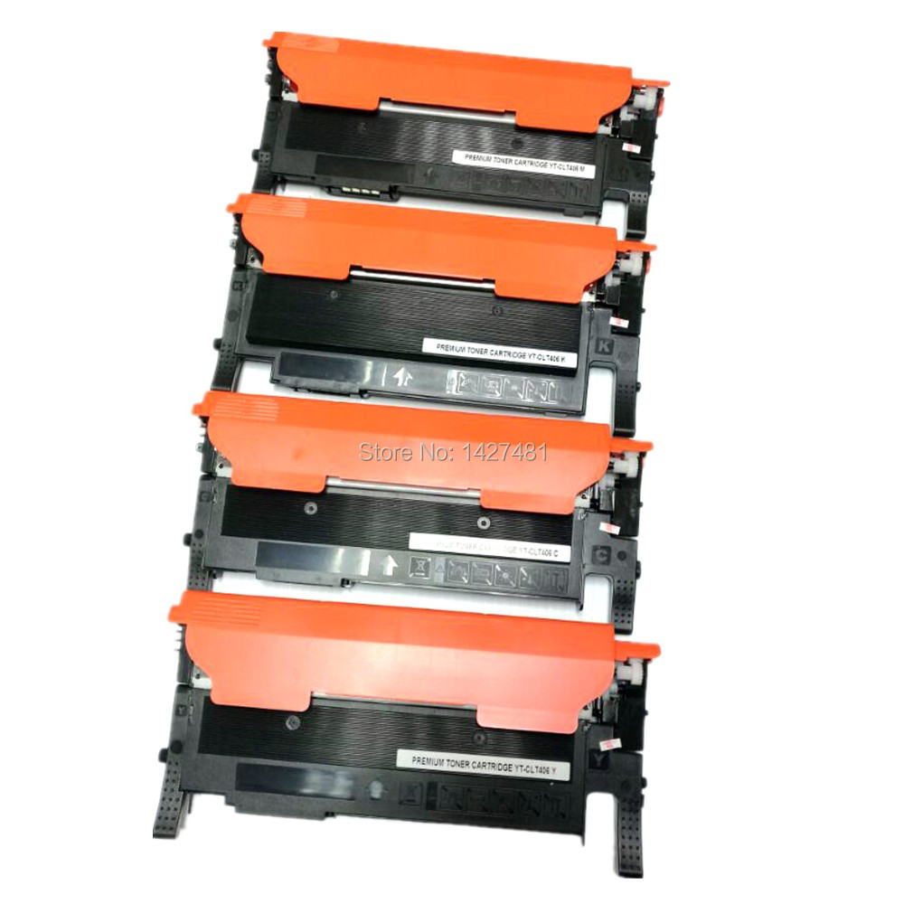 YOTAT Refillable Toner Cartridge CLT 406S CLT-406 CLT-406S For Samsung CLP360/362/363/364/365/365W/366/366W/367/368/CLX3300 chip for samsung xpress c 460fw mlt d 406 s clt m 4062s slc412 clt m 406s els xaa xil see new laser counter chips