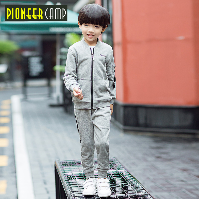 Pioneer Kids 2017 New Fashion Boy Clothes Set New Fashion Kids Boys Sports Clothes 2pcs Hoodie+Pants Girls Sport Suit S 2017 new boys clothing set camouflage 3 9t boy sports suits kids clothes suit cotton boys tracksuit teenage costume long sleeve
