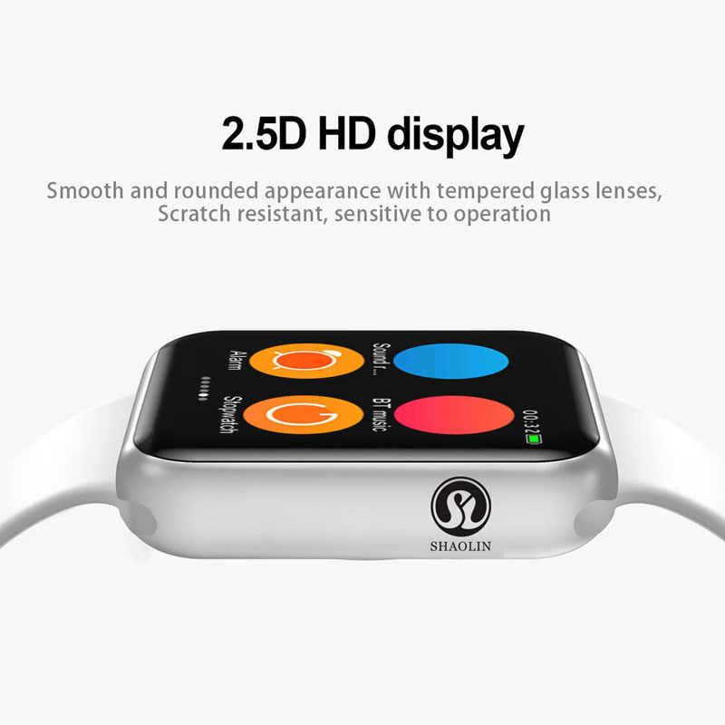50% ปิดบลูทูธสมาร์ท Watch Series 4 SmartWatch สำหรับ Apple IOS iPhone Xiaomi Android โทรศัพท์สมาร์ทไม่ใช่ Apple นาฬิกา (ปุ่มสีแดง)