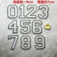 50pcs/lot Large White Numbers Embroidery Cloth Patch Match Shirt Jersy Accessories DIY Baseball Cap Sticker Iron Heat Transfer цена