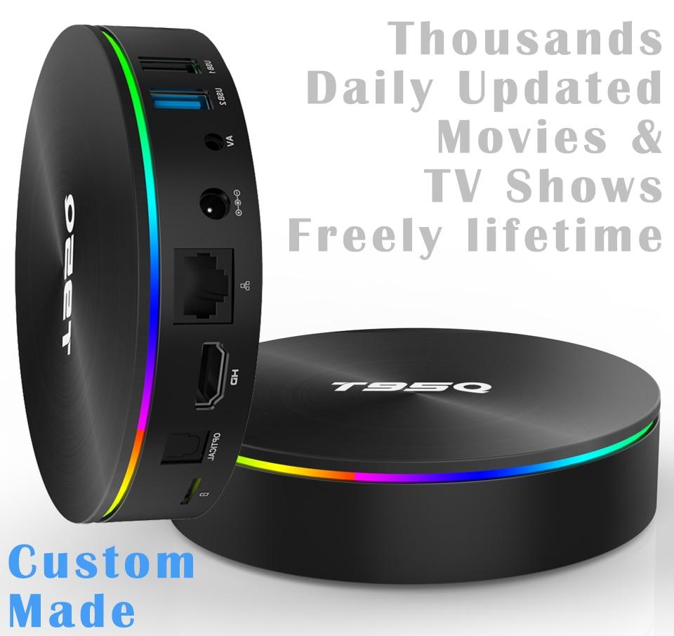 S905X2 A53 Quad core 4 K Android TV Box 4 GB Ram 32 GB/64 GB milliers de films et émissions de télévision automatiques quotidiennes durée de vie gratuite
