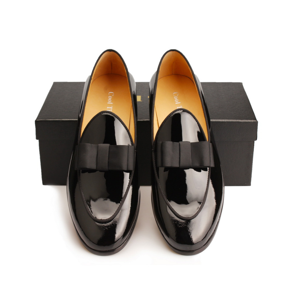 Black Patent leather Loafers Men Flat Shoes  (4)