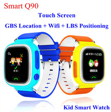 2016 Smart Baby Watch GPS Tracker LBS 1.22 Touch Screen Smartwatch Anti Lost With SOS baby gift Q90 pk Q80 Q60 Q50
