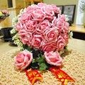 24 PE rosa Artificial flor de Rose de La Boda ramo de Novia decoración del hogar ramo de novia