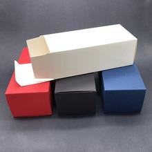 50pcs - 17x7.5x6cm Blank Black/White/Blue/Red Packaging Paper Box Sunglasses