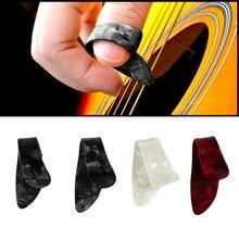 4Pcs/Set Practical Plastic Guitar Picks Thumb Finger Nail String Guitar Picks Plectrums Musical Instrument Accessories DropShip