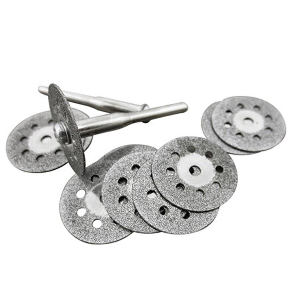 High Quality 1 Set Carbon Steel Rotary Tool Circular Saw Blades Cutting Wheel Discs Mandrel Dremel Cutoff Multitool Power Tools