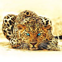 3D Framed Pictures DIY Painting By Numbers Of Leopard Animals Oil Painting On Canvas Home Decoration