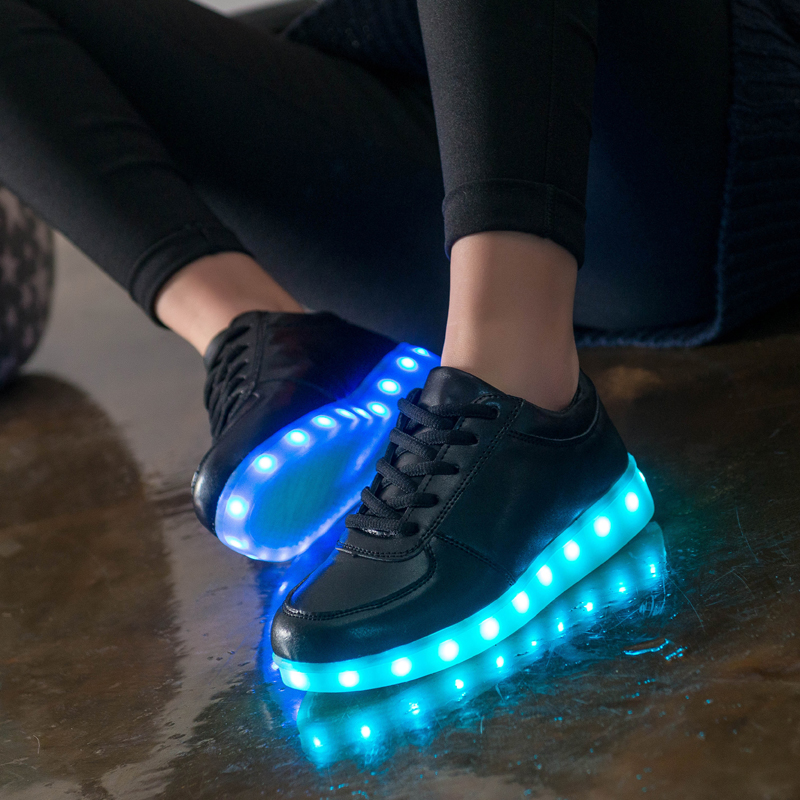 Smart Glowing Light Sole Children Led Slippers for Boy&Girl with USB Charger 3