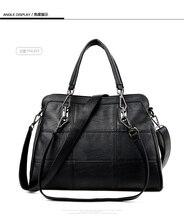 WANU Горячий продавать кожаные женские сумки овчины женская сумка женщины сумка черный мода топ-ручки сумки(China (Mainland))