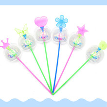 Rainbow Magic Stick Wand LED Spinning Ribbon Bubble Flower Novelty for Kids favorite Toys  6.21