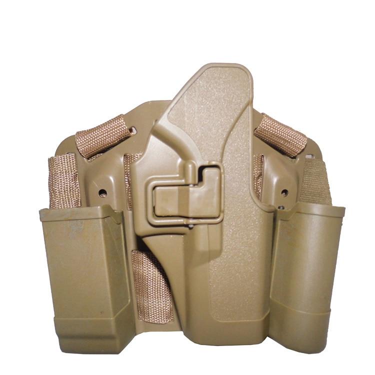 Glock 17 19 23 32 36 Étui Sable Militaire Leg Holster plate,forme de Chasse