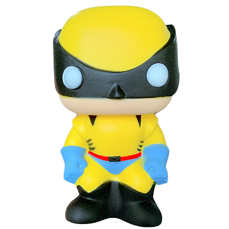 Jumbo Avengers Wolverine Ant Man The Flash Squishy Slow Rising Cartoon Doll Squeeze Toys Stress Relief For Kid Xmas Gift Toy