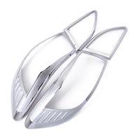 CHURRASCO @ FUKA Cauda Chrome Lâmpada Luz Traseira Capa da Guarnição Para Mazda 3 2010 2011 2012 Sedan 4dr|Estilo de cromo| |  -