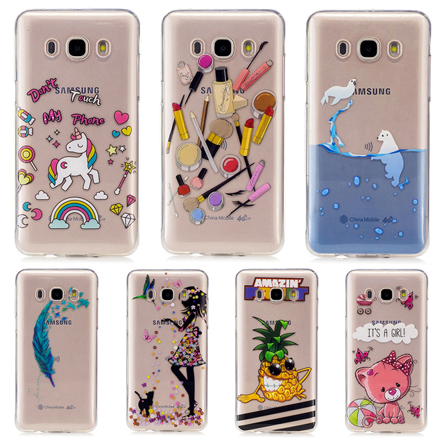 buy online afd5f f1ccb US $3.36 |AKABEILA Phone Cover Case For Samsung Galaxy J7 2016 J710 J710F  J710H J7108 J7109 J7100 Cellphone Painted TPU Cover Housing-in Fitted Cases  ...
