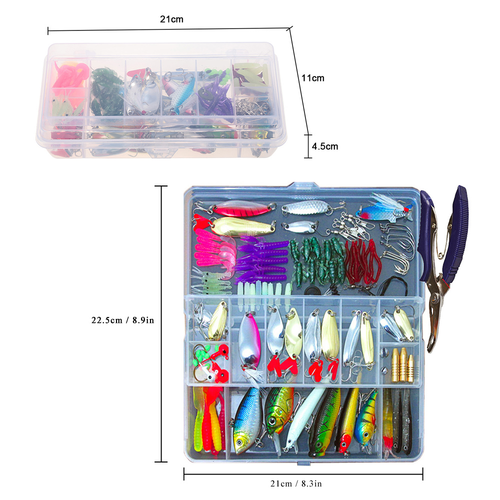 Image 4 - 73/101/132/232Pcs Fishing Lures Set Mixed Minnow Piler Spoon Hooks Fish Lure Kit In Box Isca Artificial Bait Fishing Gear Pescalure kitfishing lure setfishing lure -