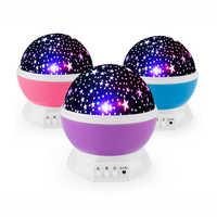 Juguetes luminosos novedad romántico cielo estrellado LED luz nocturna proyector batería USB Luz Nocturna juguetes creativos de cumpleaños para niños