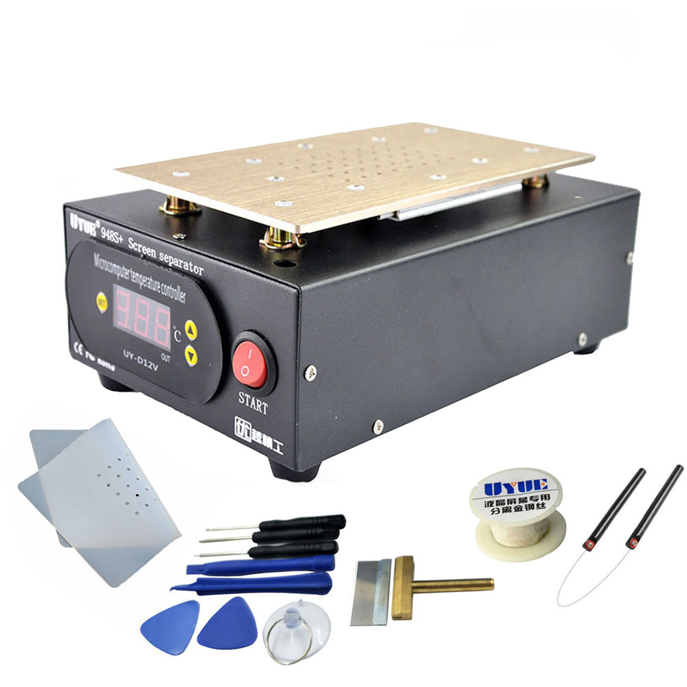 UYUE 948S+ LCD Touch Screen Separator Machine Kit 7 Inch For IPhone Separator Screen Repair Machine Build-in Vacuum Pump