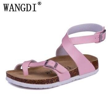 Chaussures femmes en liège chaussures de plage d'été mode tongs antidérapantes Zapatos Mujer Sandalias sandales à bride à la cheville grande taille 35-40