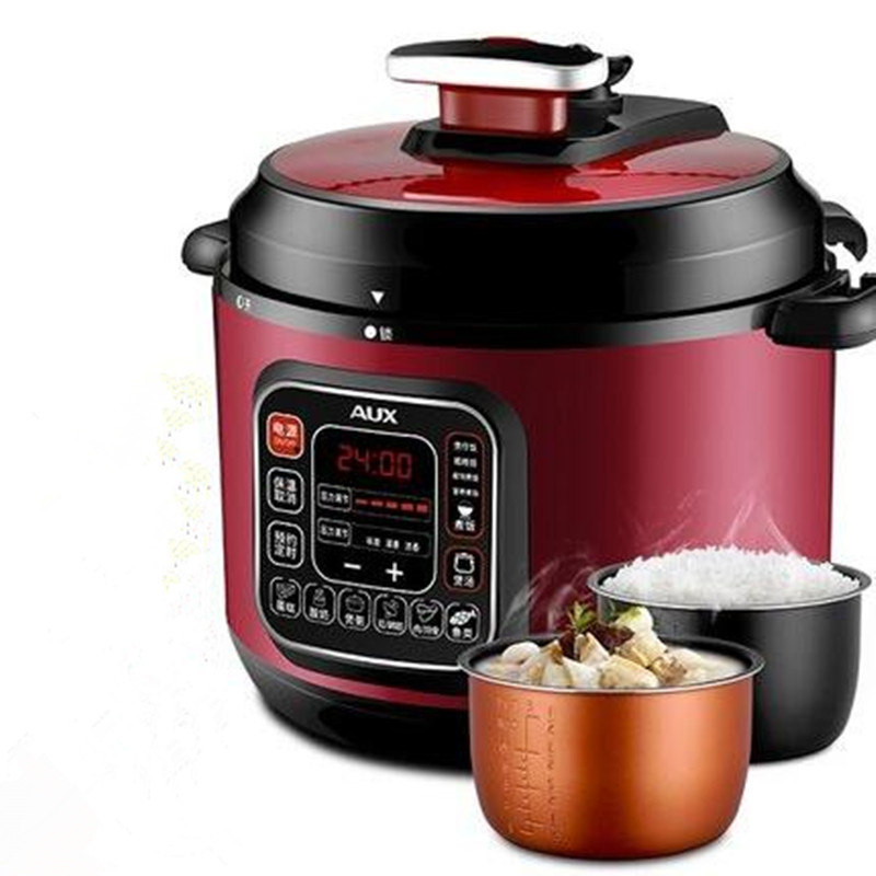 220V AUX Multifunctional Electric Pressure Rice Cooker 6L Non-stick One Key To Relieve Pressure Function Intelligent Cooker electric pressure cookers electric pressure cooker double gall 5l electric pressure cooker rice cooker 5 people