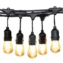 BEIAIDI Waterproof S14 String Lights E27 Retro Edison Filament Bulb Outdoor Street Garden Patio Holiday Lighting Garland AC220V