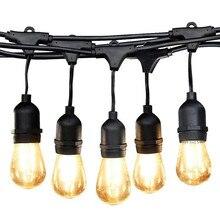 BEIAIDI guirlande lumineuse imperméable S14 pour léclairage dextérieur, ampoule à Filament Edison, pour le jardin ou le Patio, pour les vacances, ac 220v