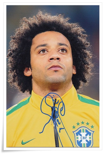 Marcelo Vieira da Silva Junior autographed signed original photo 4*6 inches collection freeshipping 01.2017