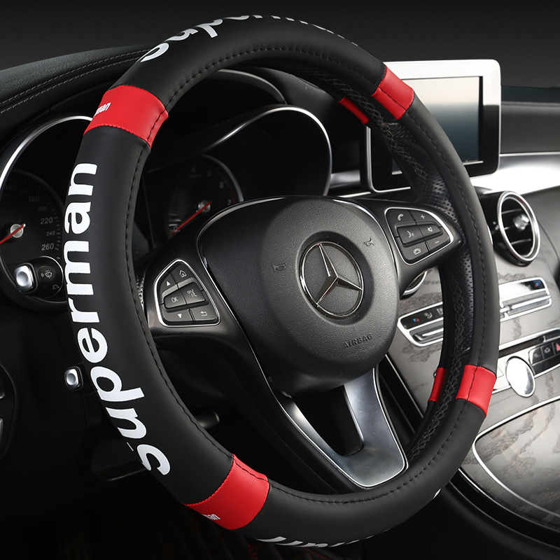 worldwide delivery car steering wheel 37 38 cm in nabara onlinekkysyelva car steering wheel 37 38 cm leather hand stitched pu leather car steering wheel cover suitable for most car models