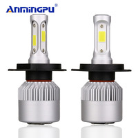 ANMINGPU 2017 72W 6500K Headlight Bulbs S2 H4 LED Bulb Hi Lo 12v COB Chips Lampada