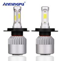 ANMINGPU 2017 72W 6500K Headlight Bulbs S2 H4 LED Bulb Hi Lo 12v COB Chips Lampada