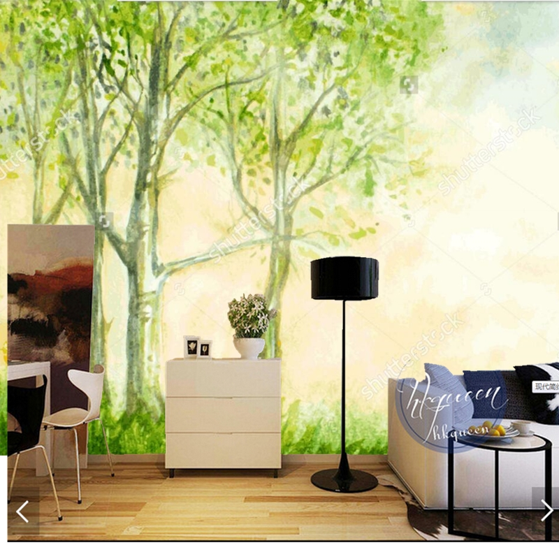 Custom natural landscape wallpaper.birch trees,3D photo murals for living room bedroom background wall embossed wallpaper custom 3d wallpaper wood block photo wallpaper natural trees wall murals art living room decor bedroom office home decoration