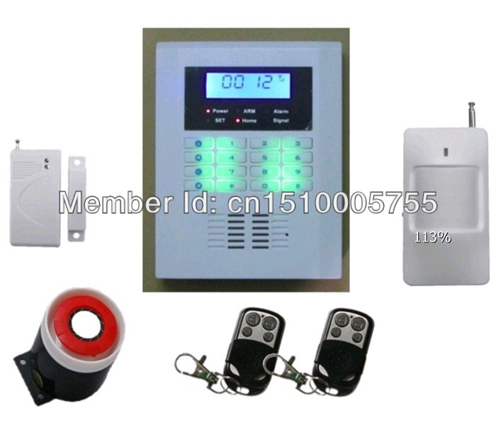 Classic,smart GSM850/900/1800/1900Mhz home security GSM PSTN alarm system voice promt,SMS, auto-dial burglar secure alarm system free shipping lcd dispaly home wireless gsm alarm system 850 900 1800 1900mhz