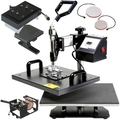 combo 6 in 1 multifunction  heat press machine price with plate size: 15x 20cm